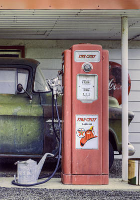 Coca-cola Sign Photograph - Fire Chief - Gas Pump - Retro by Nikolyn McDonald