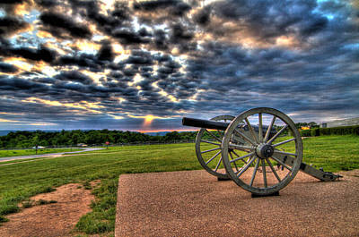American Photograph - Fire Clouds Over A Gettysburg Cannon by Andres Leon