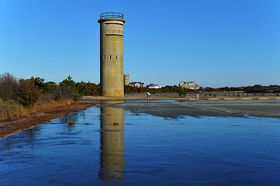 Photograph - Fire Control Tower 3 Icy Reflection by Bill Swartwout