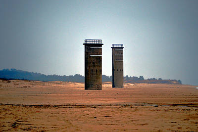 Photograph - Fct5 And Fct6 Fire Control Towers On The Beach by Bill Swartwout
