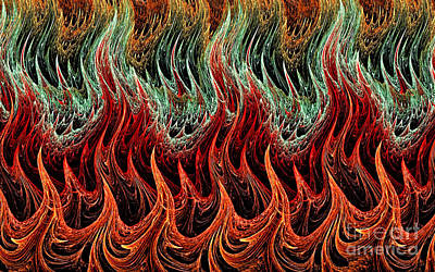 Digital Art - Fire Dance by Kaye Menner