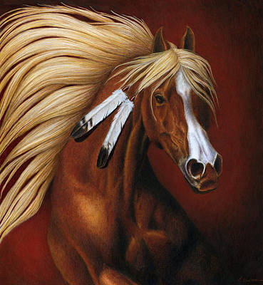 Bay Horse Painting - Fire Dance by Pat Erickson