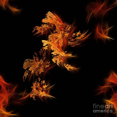 Digital Art - Fire Dance by Yvonne Johnstone