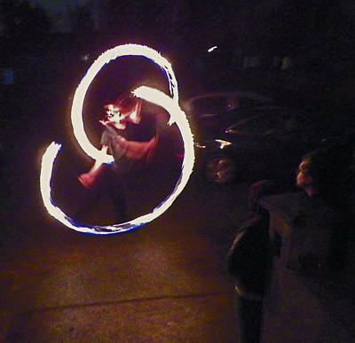 Photograph - Fire Dancer 1 by Seth Shotwell