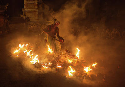 Ritual Photograph - Fire Dancer by Angela Muliani Hartojo