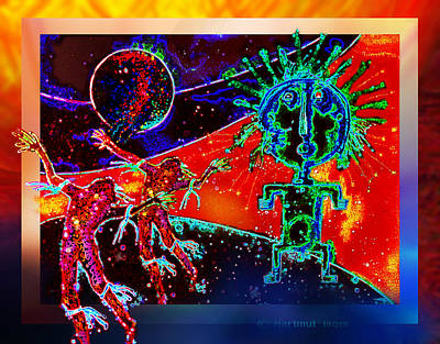 Fire Dancer Art Print
