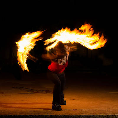 Photograph - Fire Dancer by Tin Lung Chao