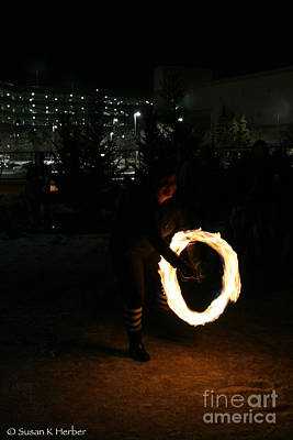 Photograph - Fire Dancing by Susan Herber