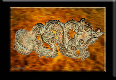 Gold Photograph - Fire Dragon Left by LeeAnn McLaneGoetz McLaneGoetzStudioLLCcom