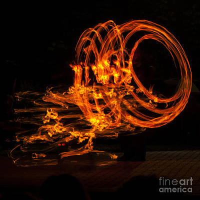 Fire Photograph - Fire Drawing by Mandy Judson