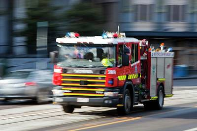 Fire Engine Photograph - Fire Engine by Ashley Cooper