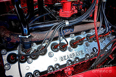 Photograph - Fire Engine Engine by Olivier Le Queinec