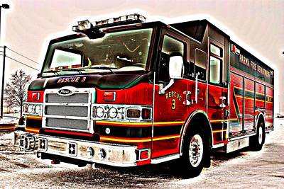 Fire Engine Red Art Print by Frozen in Time Fine Art Photography