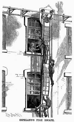 Fire Escape Painting - Fire Escape, 1883 by Granger