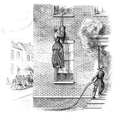 Fire Escape Painting - Fire Escape, 1884 by Granger