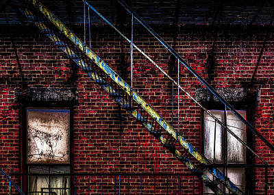 Photograph - Fire Escape And Windows by Bob Orsillo