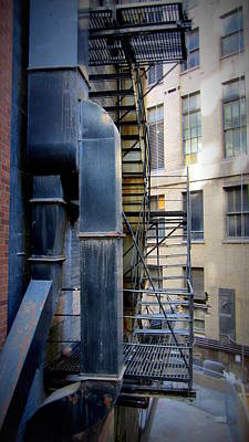 Photograph - Fire Escape Chicago 1 by Anita Burgermeister