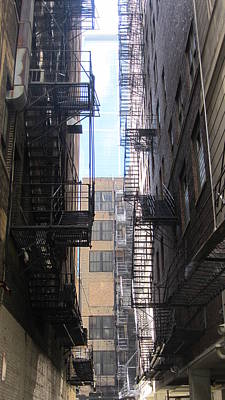 Photograph - Fire Escape Chicago 2 by Anita Burgermeister