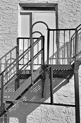 Photograph - Fire Escape In Black And White by Rudy Umans