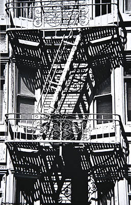 Fire Escape Art Print by Larry Butterworth