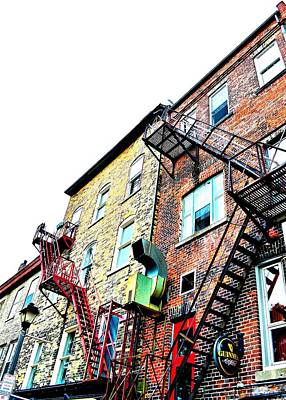 Photograph - Fire Escape Lattice - Ontario - Canada by Jeremy Hall