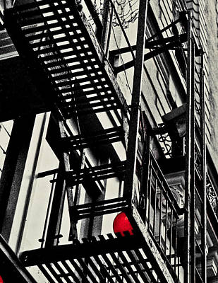 Photograph - Fire Escape Playground by Richard Cline