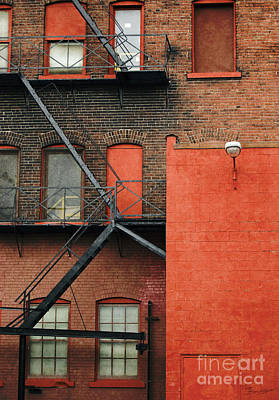 Photograph - Fire Escape by Tom Brickhouse