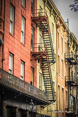 Photograph - Fire Escapes by Deborah Hughes