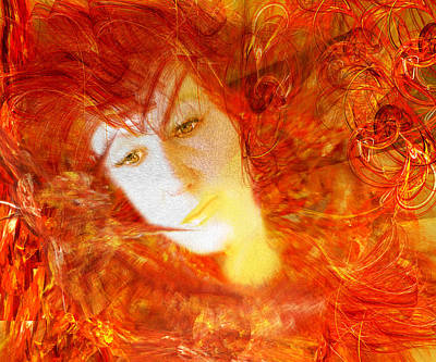 Trippy Photograph - Fire Feme by Camille Lopez