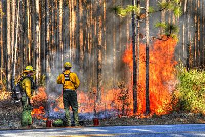 Photograph - Fire Fighters002 by Donald Williams