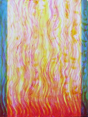 Fire Flow Art Print by Tom Hefko
