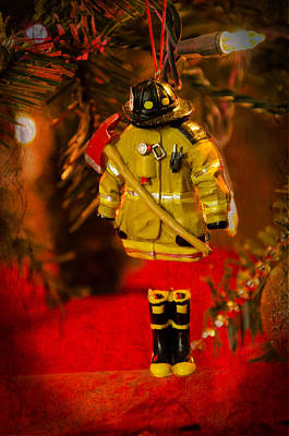 Photograph - Fire Gear Christmas  by Susan  McMenamin