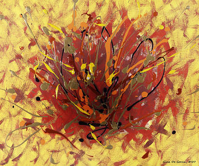 Painting - Fire by Gina De Gorna