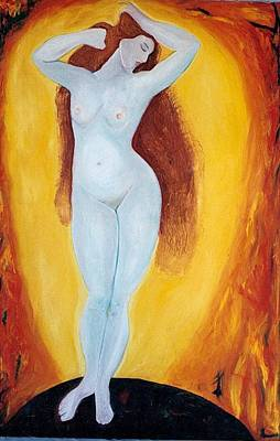 Painting - Fire Goddess by Phoenix De Vries
