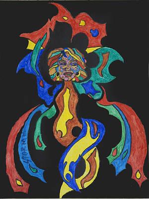 Voodoo Painting - Fire Goddess by Stormm Bradshaw