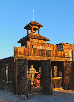 Fire Hall Calico Ghost Town Art Print by Michael Hope