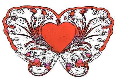 Mixed Media - Fire Heart by Strangefire Art       Scylla Liscombe