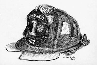 Fire Helmet Art Print