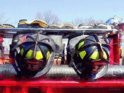 Photograph - Fire Helmet And Boots by Susan Savad