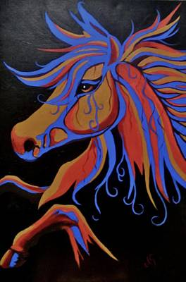 Painting - Fire Horse by Anne Gardner