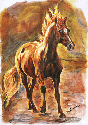 Painting - Fire Horse by Jana Goode