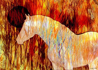 Judy Wood Digital Art - Fire Horse by Judy Wood