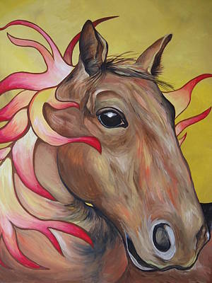 Painting - Fire Horse by Leslie Manley