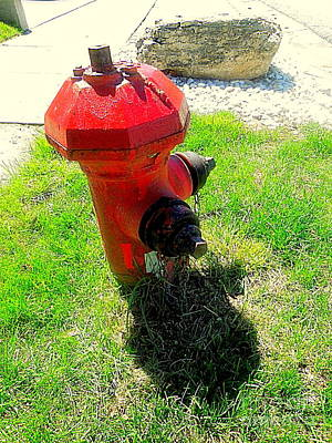 Photograph - Fire Hydrant 4 by Richard W Linford
