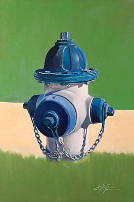 Fire Hydrant Painting - Fire Hydrant by Karl Melton