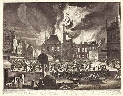 1600s Wall Art - Photograph - Fire In Amsterdam by Manuscripts And Archives Division/new York Public Library