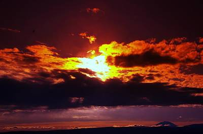 Fire In The Clouds Art Print by Jeff Swan