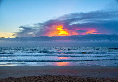 Photograph - Fire In The Morning Sky by Judy Hall-Folde