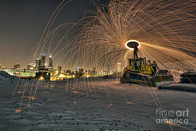 Photograph - Fire In The Night by Steven K Sembach