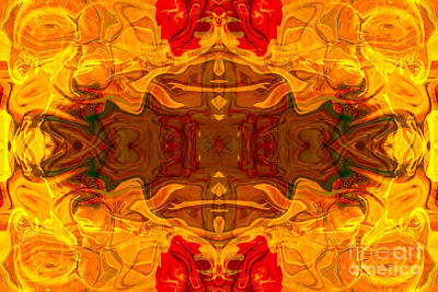 Digital Art - Fire In The Sky Abstract Pattern Artwork by Omaste Witkowski